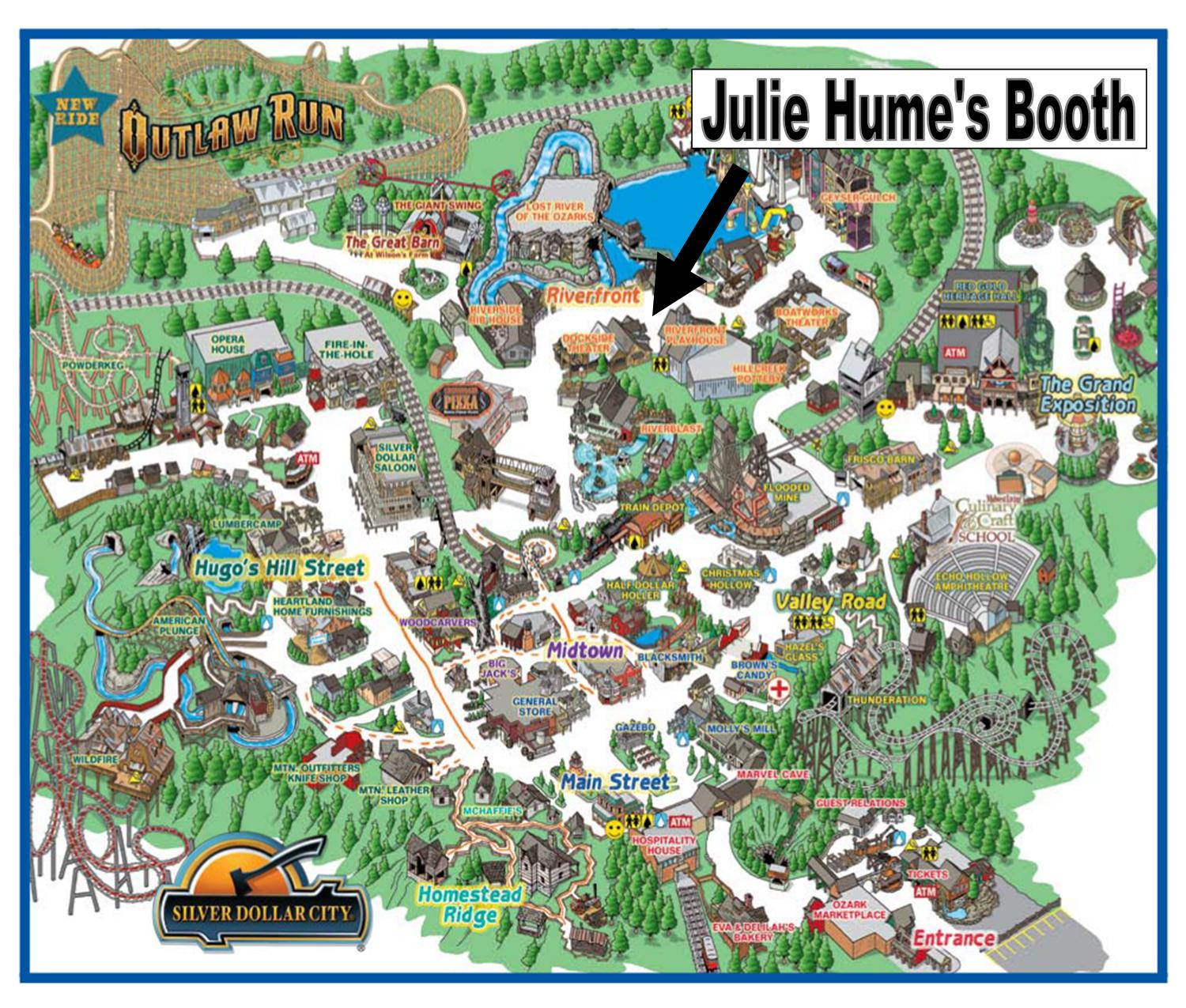 Silver Dollar City Fall Festival Julie Hume Art - City map of branson mo